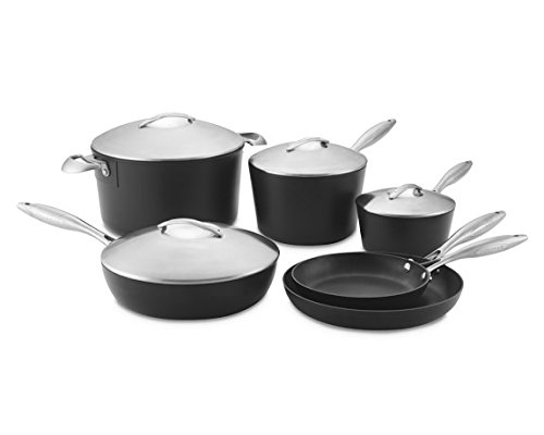 Scanpan Professional 10-Piece Cookware Set, Set-10, Silver