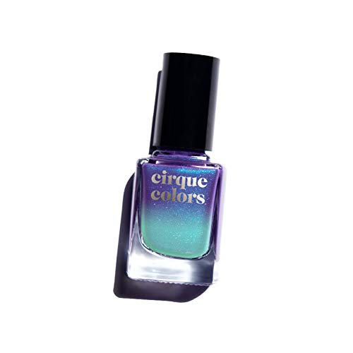 Cirque Colors Thermal Temperature Color Changing Mood Nail Polish - 0.37 fl. oz. (11 ml) - Vegan, Cruelty-Free, Non-Toxic Formula (Luna)