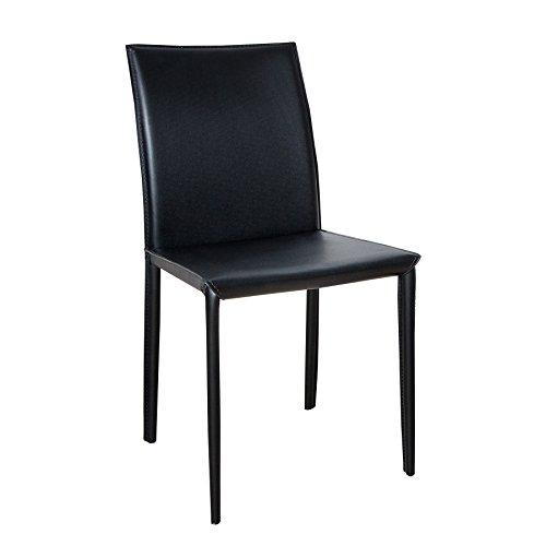 Invicta Interior Stuhl Milano schwarz Ziernaht Lehnstuhl Esszimmerstuhl