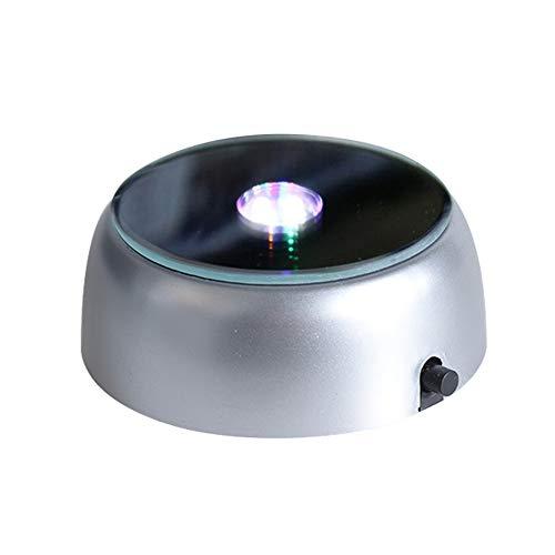 Ttzz Leuchtsockel LED Licht Untersetzer für Glasblock Stimmungslichter Drehbar Sockel bunt Farbeverlauf LED Ausstellungsstand Lampesockel für Kristall Glas Bunt Gradient