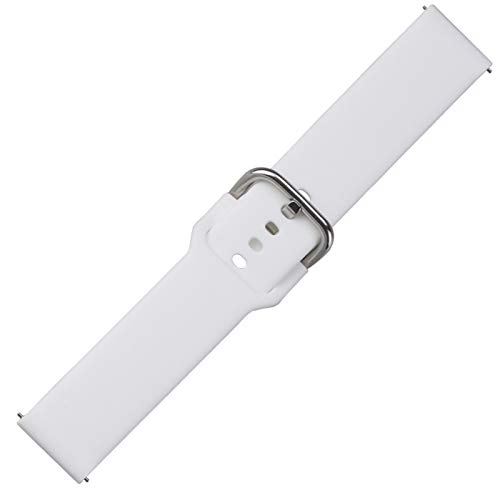 DANGAO Banda de Silicona Wamkands 46mm Gear S3 Hwawei Watch GT 2 Correa 20 / 22mm Pulsera (Band Color : White, Band Width : 20mm)