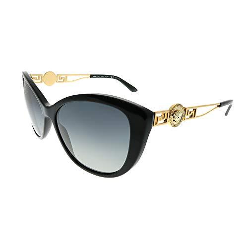 Versace Womens Sunglasses (VE4295 57) Black/Grey Acetate - Polarized - 57mm