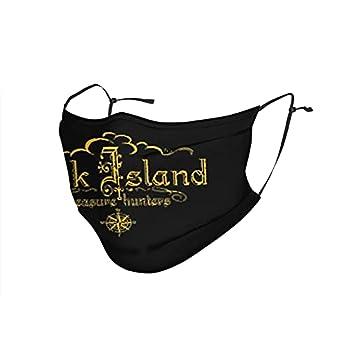 Oak Island Treasure Hunters Dust-Proof Sports Adjustable Face Cover Bandana for Outdoor Reusable Face Masks Black
