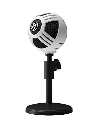 Arozzi - Sfera Gaming/Streaming/Office USB Microphone - Cardioid Polar Pattern, Boom Arm Compatible - White