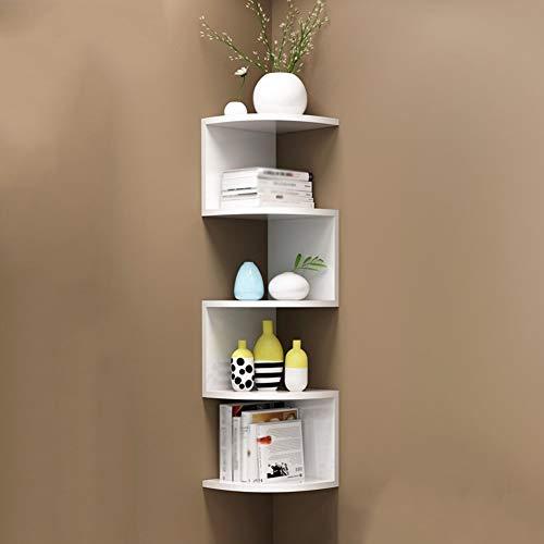 ZLP Regale, Lagerregale, Schwimmende Regalecken, Bücherregal-Trennregale, 2 Farben, 2 Größen,20 × 88 × 20 cm,Weiß