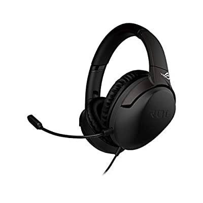 ASUS ROG Strix Go Gaming Headphones with USB-C Adapter | Ai Powered Noise-Cancelling Microphone | Over-Ear Headphones for PC, Mac, Nintendo Switch, and PS4