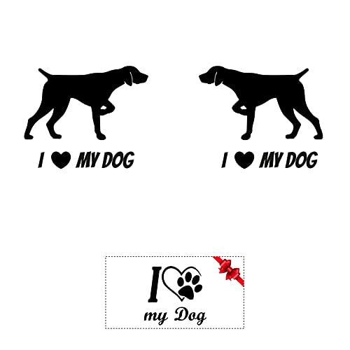 Sticker Mimo Pegatinas I Love My Dog Sigio Italiano: accesorios personalizados para coche, moto, caravana, autocaravana, calcomanías de corazón animal – Perro (fantasía B 10 cm)