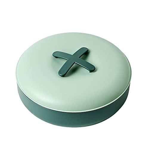 juntao Caja de plástico de una sola capa, diseño de mano para un fácil acceso, fruta seca, caja de semillas de melón, almacenamiento de aperitivos, bandeja de frutas (color: verde claro)