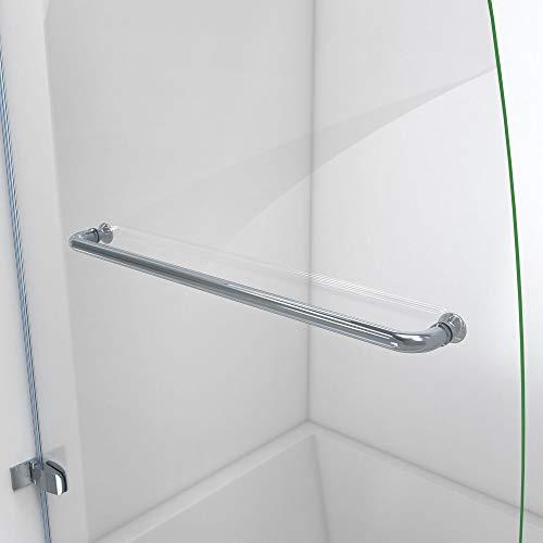 DreamLine Aqua Uno 34 in. W x 58 in. H Frameless Hinged Tub Door in Chrome, SHDR-3534586-01