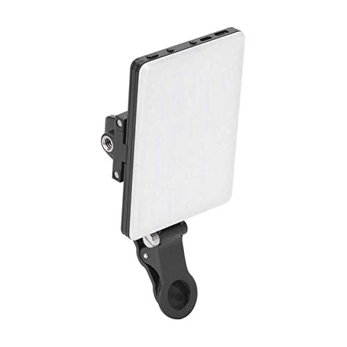 Wenhe Luz de carga para teléfono móvil ajustable, portátil, lámpara de vídeo LED mini regulable 3200 K-5600 K, lámpara de vídeo pequeña TLCI/CRI 95+, luz para cámara