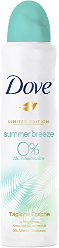 Dove Deospray Limited Edition Summer Breeze ohne Aluminium und Alkohol, 6er Pack (6 x 150 ml)
