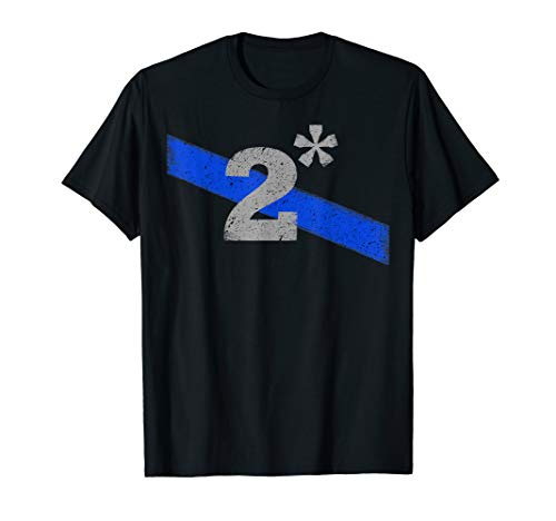 Police K9 Officer Two Asterisk Thin Blue Line T-Shirt