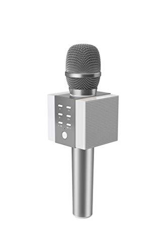 Microfono karaoke con altoparlante Bluetooth 5W Silver