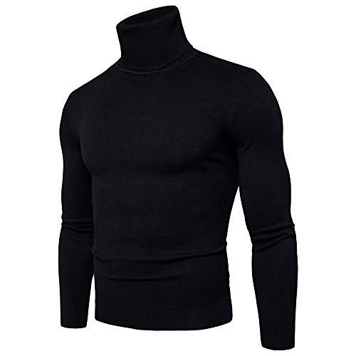 Celucke Herren Rollkragenpullover in Muskelshirt-Form,Strickpullover Slim Fit Rollkragen Pullover Winter Warme Sweatshirt