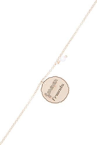 Córdoba Jewels | braccialetto in argento Sterling 925placcato oro rosa con motivo Forever Friends