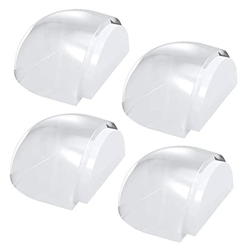 4 topes de puerta autoadhesivos, Joycabin, topes de puerta transparente para proteger muebles y paredes, para suelos y puertas duras y lisas