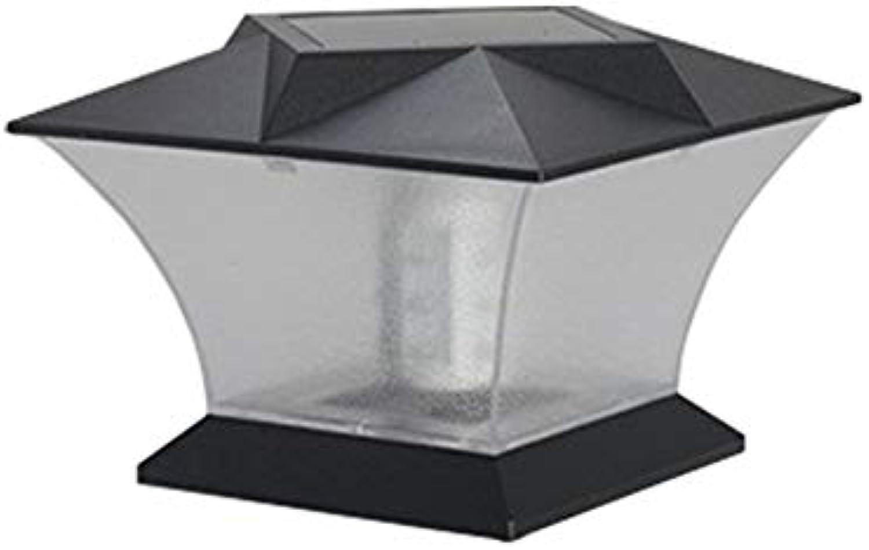 ACBAZEFA Solar-Im Freiensulen-Kopf-Licht-LED Landhaus-Wand-Landschaftsgarten-Licht-Ausgangswasserdichte Lichtsteuerung