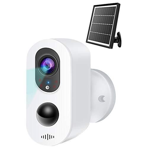 Huante - Cámara de vigilancia solar (2 Mpx, WiFi, Smart Outdoor 1080P HD, cámara de vigilancia a distancia)