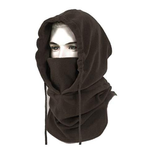 BINE Mens Winter Hat Cold Weather Face Mask Balaclava Hood Outdoor Heavyweight Sports Balaclava Windproof Brown