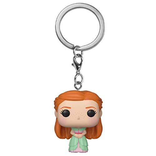 ZEwe Pop Popular James Harry Potter Ginny Weasley Pocket Doll Car Pendant Muñeca Metal Llavero Q Versión Mini Cumpleaños