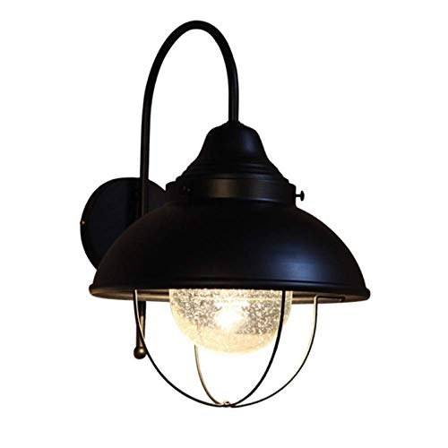 CMMWA Outdoor Lighting Wall Lamp Dimmable Metal Wall Lamp Black Hard Line Industrial Vintage Wall Lamp Fixture for Aisle Corridor Stairs Bedside Wall Lamp
