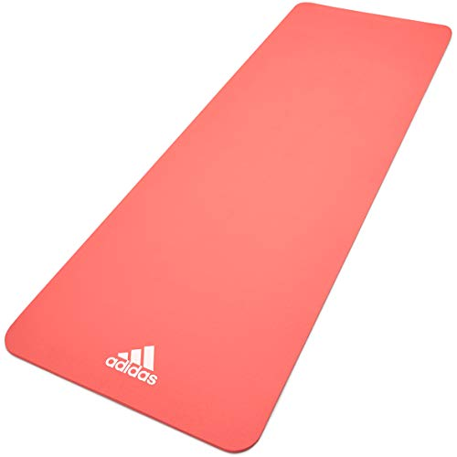 adidas, Yoga Mat-8mm-Glow Pink Unisex-Adult, Rosa incandescente