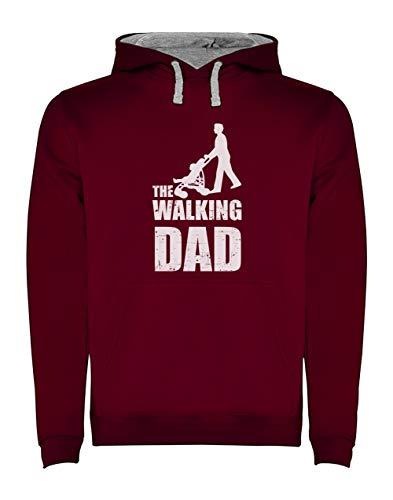 Green Turtle T-Shirts Sudadera con Capucha para Hombre- Regalos Originales para Padres Primerizos - The Walking Dad X-Large Burdeos