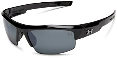 Under Armour Igniter Sunglasses, Black / Gray Polarized Lens, 60 mm