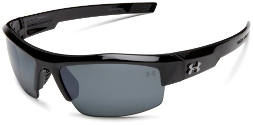 Under Armour Igniter Sunglasses Oval, Black/Gray Polarized Lens, 65 mm