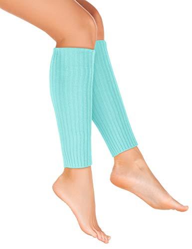 Balinco Strick-Stulpen | Beinstulpen | Damen & Mädchen Stuplen | Beinwärmer für den Alltag oder als Accessoire zum Karneval / Fasching (Hellblau)