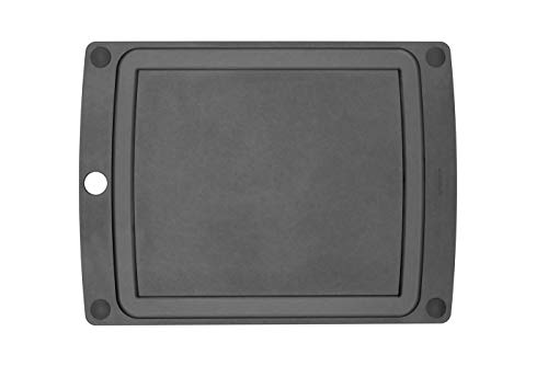 "Epicurean All-In-One Cutting Board with Non-Slip Feet, 17.5"" × 13"", Slate/Black"