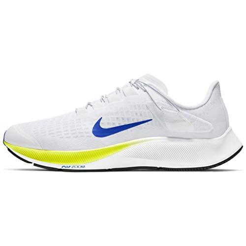 Nike Air Zoom Pegasus 37 Flyease Zapatillas para hombre Ck8474-102, blanco (Blanco/Racer Blue-cyber-black), 42 EU