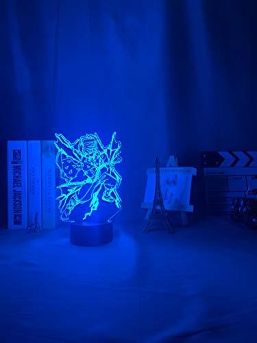 Lámpara de mesa 3D LED de luz nocturna de anime personaje malvado asesino lámpara de dormitorio decoración regalo
