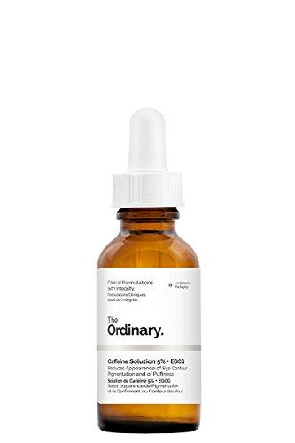 Solución The Ordinary, de cafeína 5% + EGCG 30ml, reduce la aparición de pigmentación en el contorno de los ojos y de la hinchazón