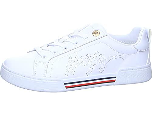 Tommy Hilfiger Hilfiger Elevated Sneaker, Zapatillas Mujer, White, 38 EU