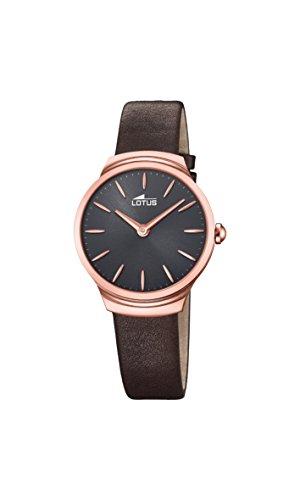 Lotus Watches Reloj Análogo clásico para Mujer de Cuarzo con Correa en Cuero 18501/1