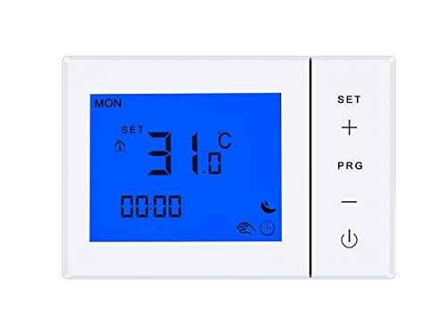 Termostato Caldaia a Batteria, Cronotermostato Incasso Scatola 503, Display LCD Retroilluminato Tasti Touch, Programma Settimanale