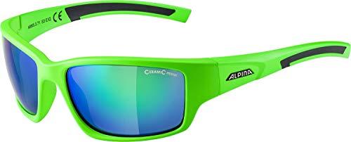 ALPINA KEEKOR Sportbrille, Unisex– Erwachsene, neon green-black, one size