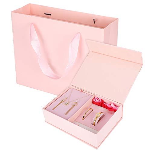 Collar Pendientes Brazalete, Conjunto de joyas, Poco alérgico Hermoso para novias Bodas
