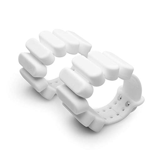 TOSAMC Durable Wrist Weights - Wearable Weight Bracelet Intensify Fitness, Exercise, Walking, Jogging, Gymnastics, Aerobics, Yoga, Gym; 2pics Set. (White, 2.0LB)