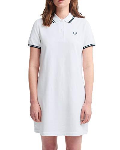 Fred Perry - Weißes Damenkleid mit Logo - Weiß, S