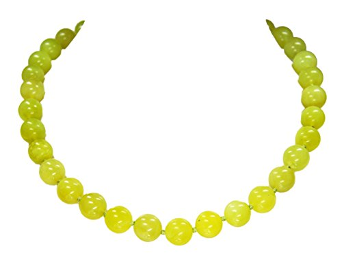 Gorgeous necklace from the gem Chytha Serpentine in ball form D-12 mm