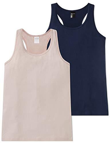 Schiesser Mädchen Multipack 2 Pack Tops Unterhemd, Mehrfarbig (Sortiert 1 901), 140 (Herstellergröße: XS) (2er Pack)