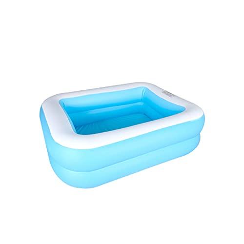Bañera de bebé azul de gran tamaño doble capa inflable bebé cuenca inflable piscina lindo bebé arena mesa niños bañera inflable para actividades de juego de agua