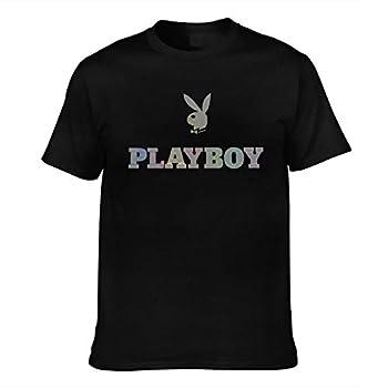 Hxuedan Men s Playboy Cool Tee Black Large