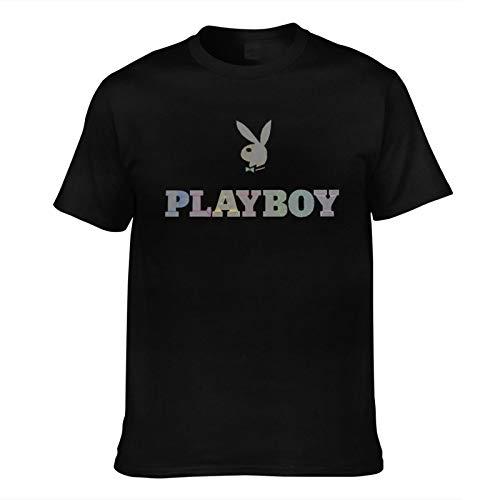 Hxuedan Men's Playboy Cool Tee Black Large