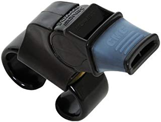 Fox 40 Sonik Blast CMG Fingergrip Pealess Whistle - Black