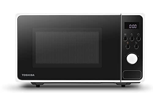 Toshiba Micro-ondes avec 8 Programmes Automatiques pour Préparation Rapide et Décongélation Facile des Aliments, 23 L, 800 W - Blanc - MM2-AM23PF (WH)