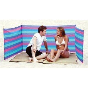 Beach Wind Screen Including Umbrella Carry Bag