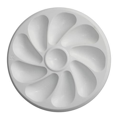 Austernteller, Kunststoff, für 9 Austern, 26 cm Durchmesser, 4 Stück